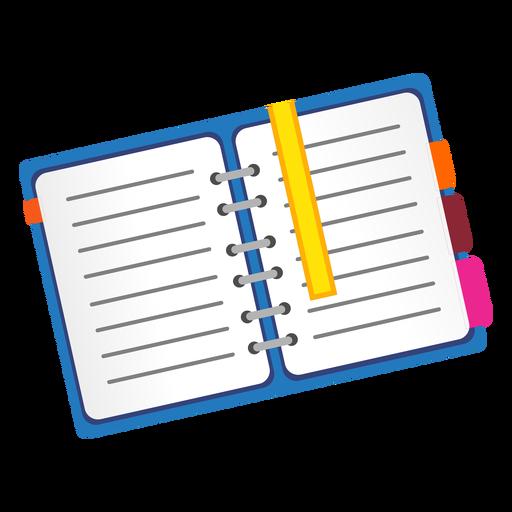 Icono de cuaderno abierto Transparent PNG