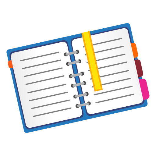 Open notebook icon Transparent PNG