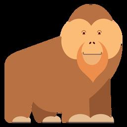Ilustración de mono orangután