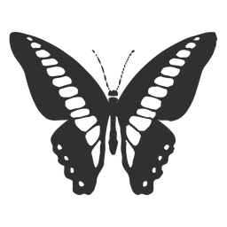 Ornythion swallowtail butterfly silhouette