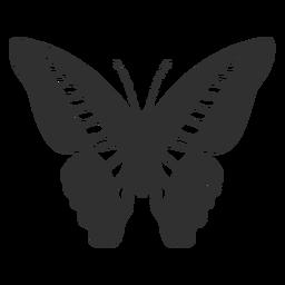 Silhueta de borboleta rabo de andorinha Ornythion