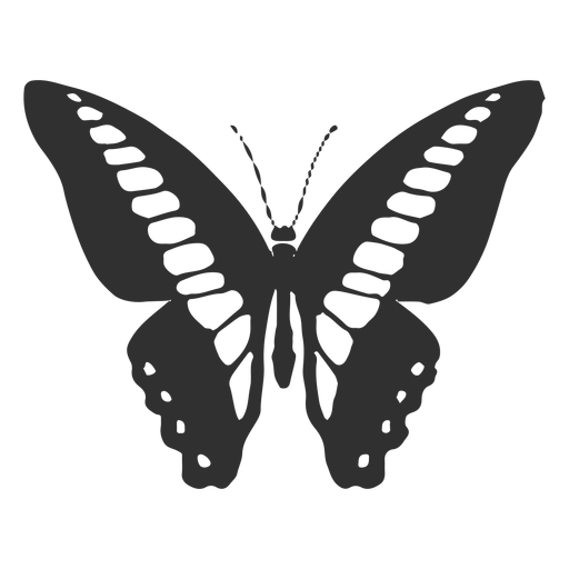 Ornythion swallowtail butterfly silhouette Transparent PNG