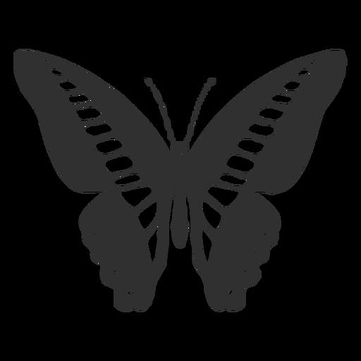 Silhueta de borboleta rabo de andorinha Ornythion Transparent PNG