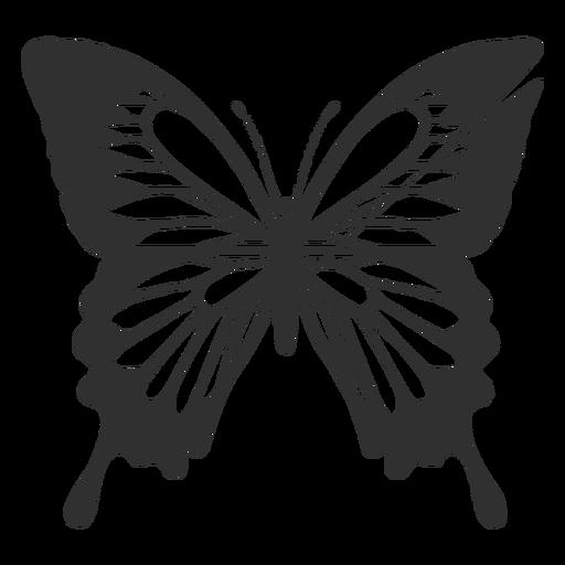 Papilio ulysses borboleta silhueta