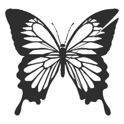 Papilio ulysses butterfly silhouette