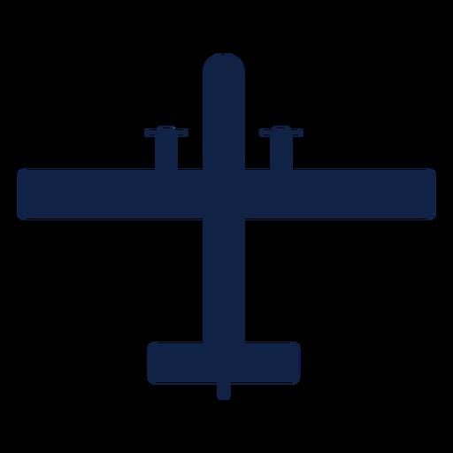 Patrol plane top view silhouette Transparent PNG