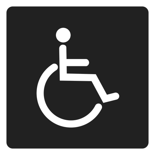 Person with disability square icon Transparent PNG