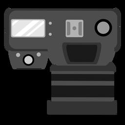Icono de vista superior de la cámara de fotos
