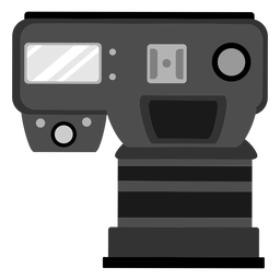 Photo camera top view icon