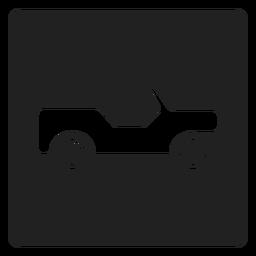 Ícone quadrado de caminhonete