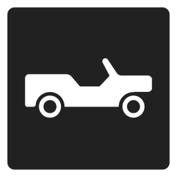 Pickup truck square icon