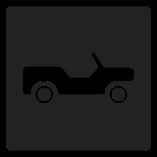 Pickup truck square icon