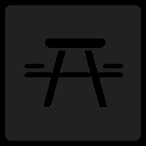 Picnic mesa y silla icono cuadrado Transparent PNG