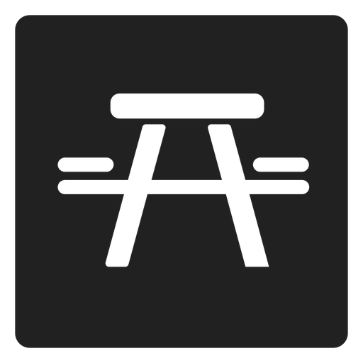 Picnic table and chair square icon Transparent PNG