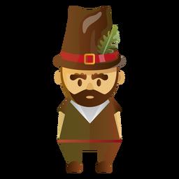 Ilustração de personagem de peregrino