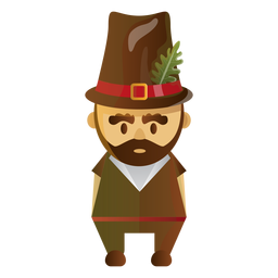 Pilgrim character illustration