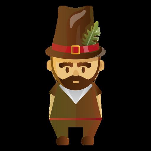 Pilgrim character illustration Transparent PNG