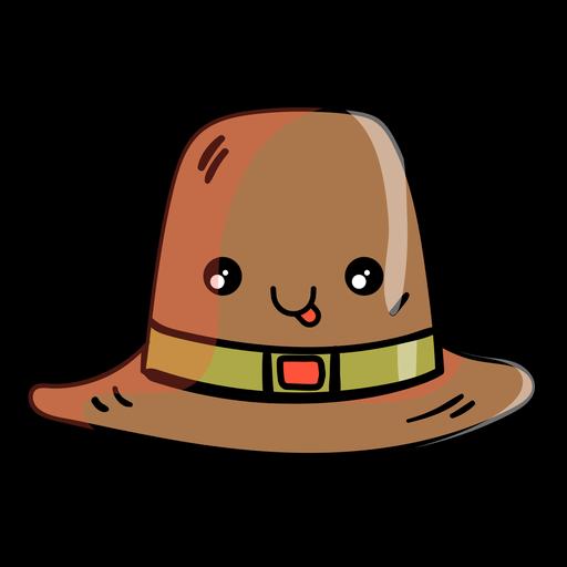 Icono de dibujos animados de sombrero de peregrino