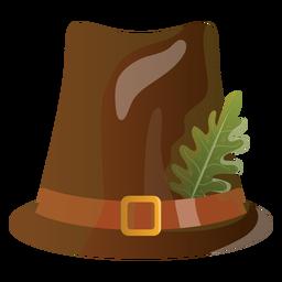 Ilustración de sombrero de peregrino