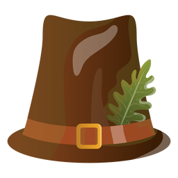 Pilgrim hat illustration