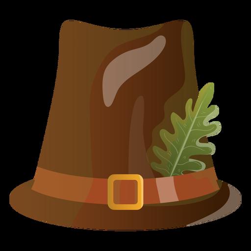 Ilustración de sombrero de peregrino Transparent PNG