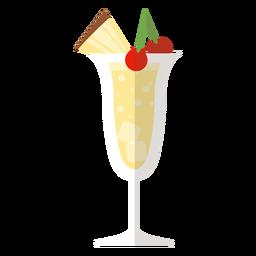 Icono de cóctel de piña colada
