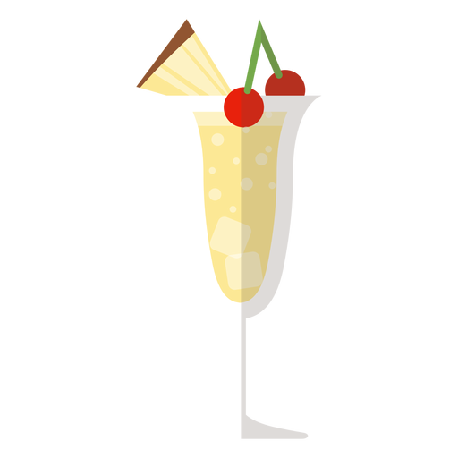 Pina colada cocktail icon Transparent PNG