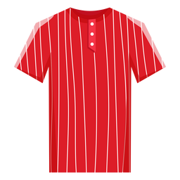 Ícone de jersey de beisebol de riscas