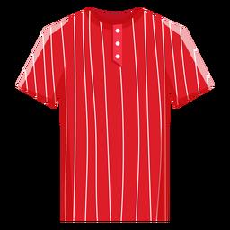 Icono de jersey de béisbol a rayas