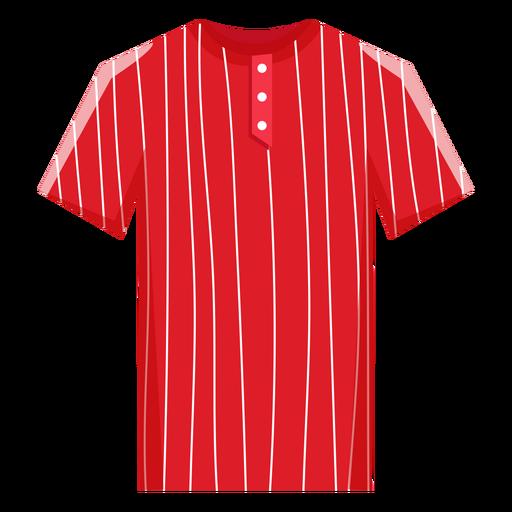 Pinstripe baseball jersey icon Transparent PNG