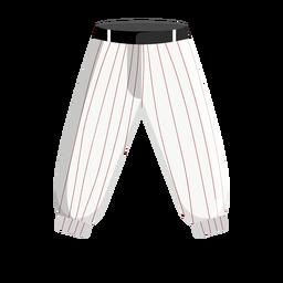 Ícone de calça de beisebol risca de giz