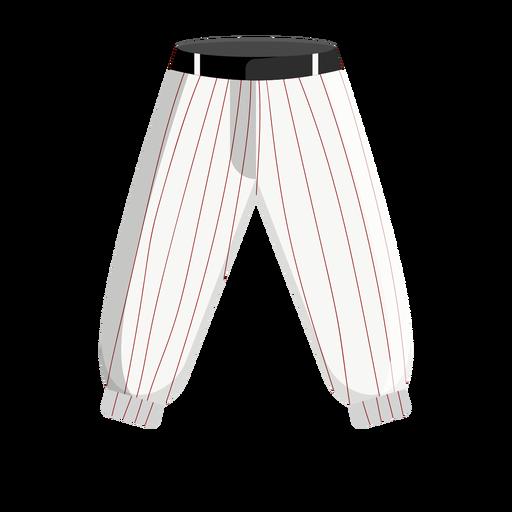 Icono de pantalones de béisbol de rayas Transparent PNG