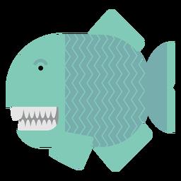 Ilustração de peixe piranha