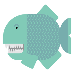 Piranha fish illustration