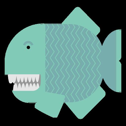 Ilustração de peixe piranha Transparent PNG