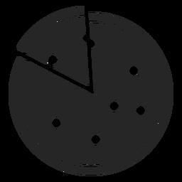 Pizza und Slice flache Symbol