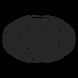 Pizza flach Symbol