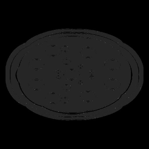 Icono de pizza plana Transparent PNG