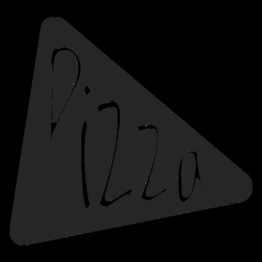 Icono de pizza rebanada plana Transparent PNG