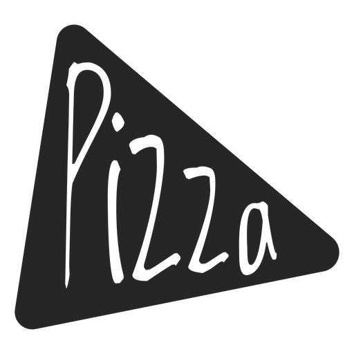 Icono plano de rebanada de pizza