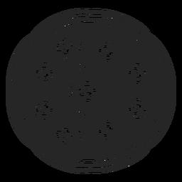 Ícone plana de vista superior de pizza
