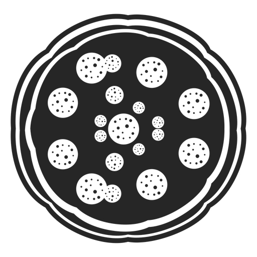 Icono plano de la vista superior de pizza Transparent PNG