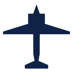 Plane top view silhouette