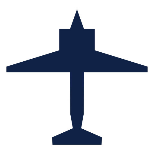 Plane top view silhouette Transparent PNG