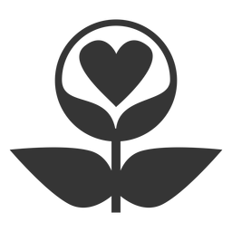 Icono de estilo de línea de amor de planta