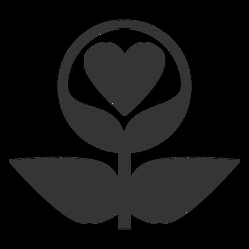 Icono de estilo de línea de amor de planta Transparent PNG