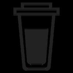 Ícone plana de copo de café plástico