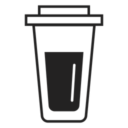 Icono plano de taza de café de plástico