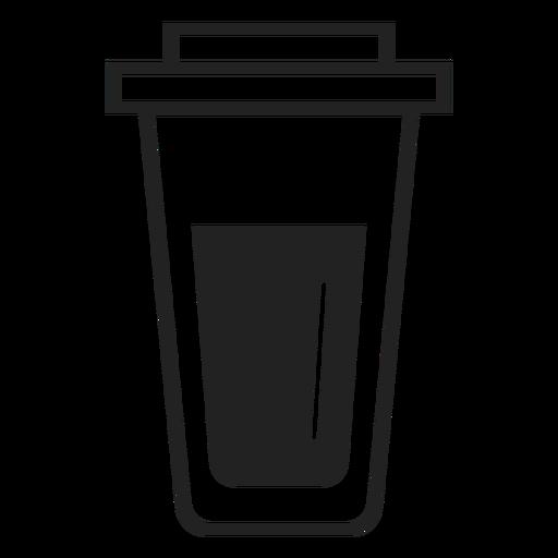 Ícone plana de copo de café plástico Transparent PNG