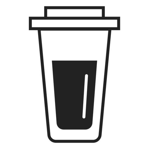 Plastic coffee cup flat icon Transparent PNG